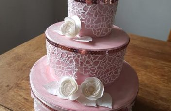 urne mariage rose