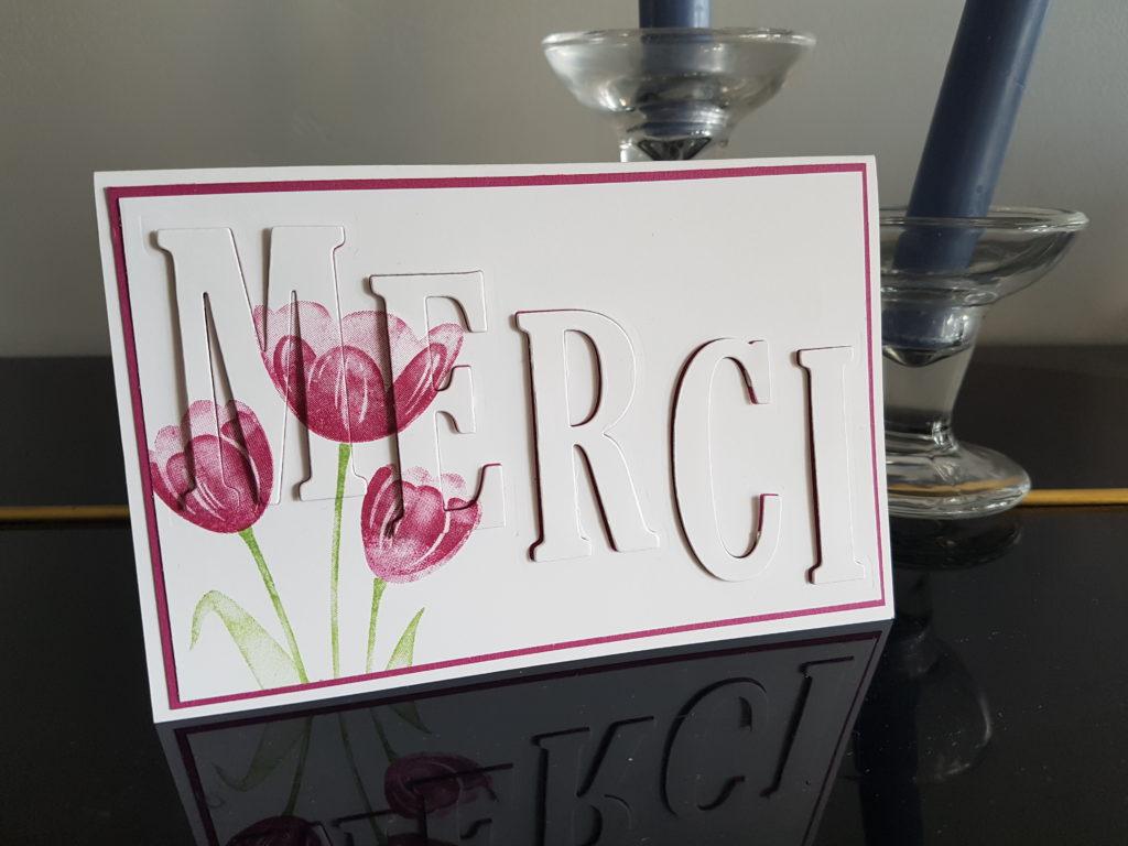 Carte remerciement Tulipes