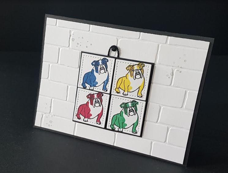 Des chiens sur un cadre ;)