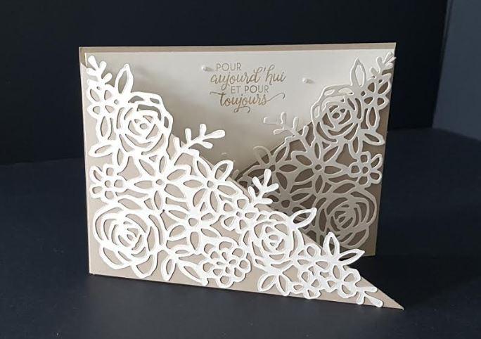 Carte mariage vanille
