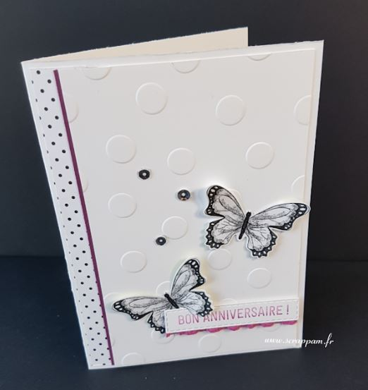 Carte pop up papillons