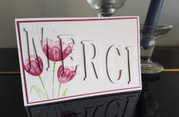 Carte merci tulipes