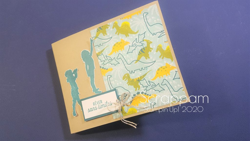 Mini-Album Dinosaures et son tutoriel