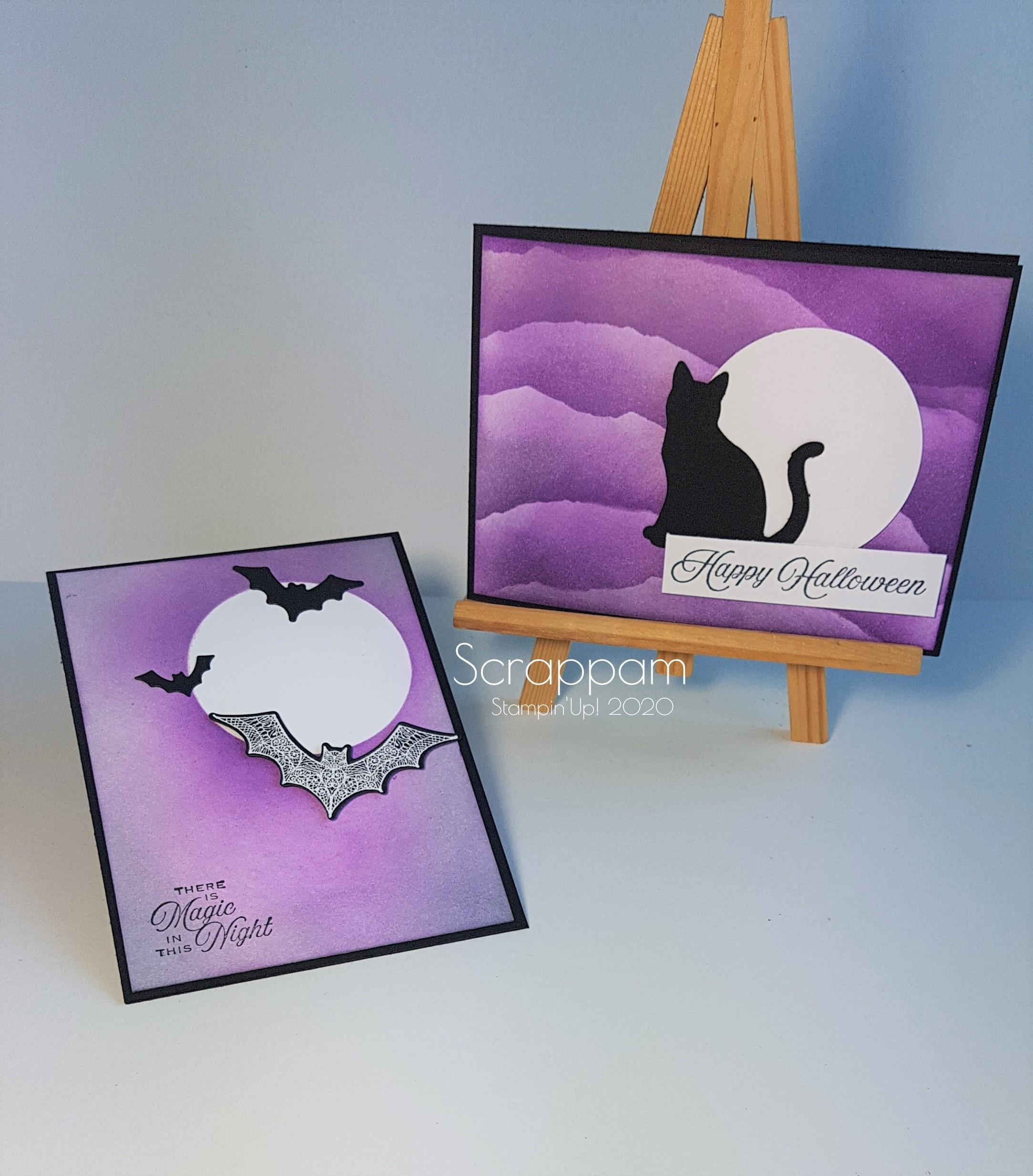 Cartes-halloween-dégradé-violet